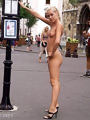 Sophie Walks Around the Streets of Budapest Completely Naked - 9/25/2012